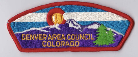 Denver Area Council Colorado Red Border Cloth Backing Pre-FDL CSP ## CSP424