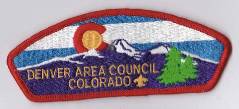 Denver Area Council Colorado Red Border Plastic Backing FDL CSP ## CSP428