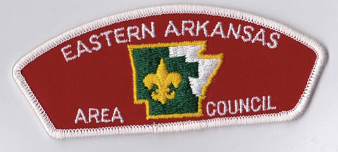 Eastern Arkansas Area Council AR White Border Plastic Backing FDL CSP ## CSP446