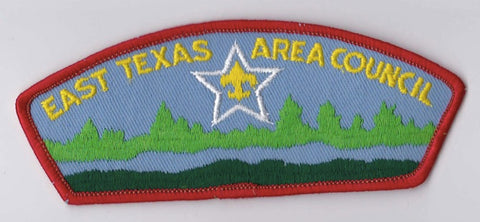 East Texas Area Council TX Red Border Plastic Backing FDL CSP ## CSP448