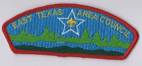 East Texas Area Council TX Red Border PLastic Backing FDL CSP ## CSP451