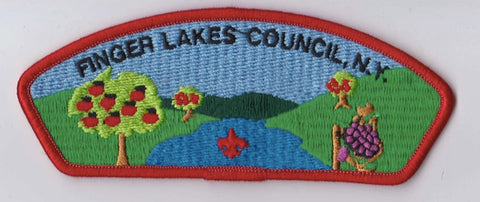 Finger Lakes Council NY Red Border Plastic Backing FDL CSP ## CSP477
