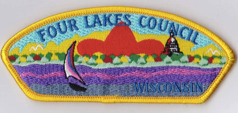 Four Lakes Council WI Yellow Border Plastic Backing FDL CSP ## CSP500