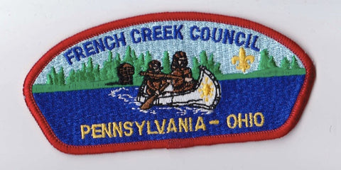 French Creek Council PA & OH Red Border Plastic Backing FDL CSP ## CSP507