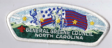 General Greene Council NC White Border Plastic Backing FDL CSP ## CSP516