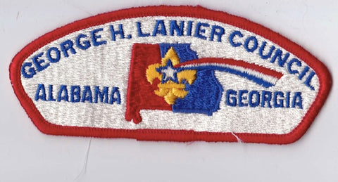 George H. Lanier Council AL & GA Red Border Cloth Backing FDL CSP ## CSP522