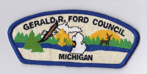 Gerald R. Ford Council MI Blue Border Scout Stuff Backing FDL CSP ## CSP536