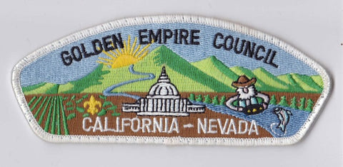 Golden Empire Council CA & NV Sewn White Border Plastic Backing FDL CSP ## CSP541