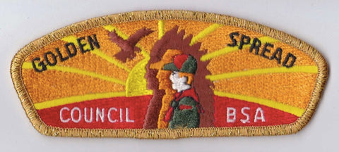 Golden Spread Council  Gold Mylar Border Plastic Backing BSA CSP ## CSP543