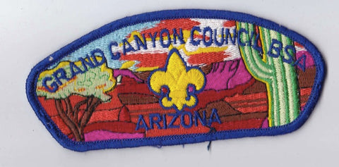 Grand Canyon Council AZ Blue Border Plastic Backing FDL CSP ## CSP549