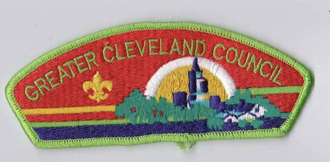 Greater Cleveland Council OH Light Green Border Plastic Backing FDL CSP ## CSP559