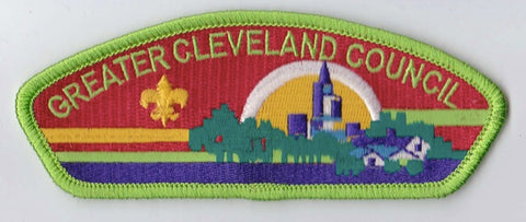 Greater Cleveland Council OH Light Green Border Scout Stuff Backing FDL CSP ## CSP561
