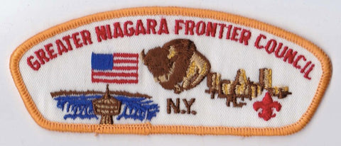 Greater Niagra Frontier Council NY Yellow Border Cloth Backing FDL CSP ## CSP579