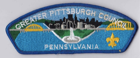 Greater Pittsburgh Council PA Blue Border Plastic Backing FDL CSP ## CSP583