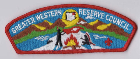 Greater Western Reserve Council  Red Border Plastic Backing FDL CSP ## CSP589