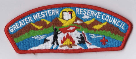 Greater Western Reserve Council  Red Border Plastic Backing FDL CSP ## CSP590