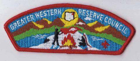 Greater Western Reserve Council  Red Border Scout Stuff Backing FDL CSP ## CSP591