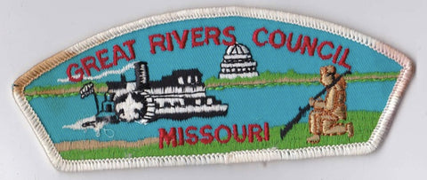 Great Rivers Council MO Stained White Border Plastic Backing FDL CSP ## CSP599