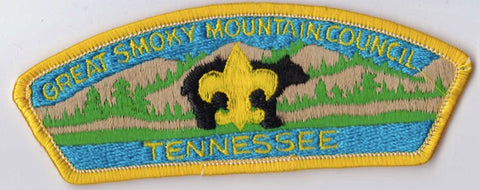Great Smoky Mountain Council TN Yellow Border Plastic Backing FDL CSP ## CSP614