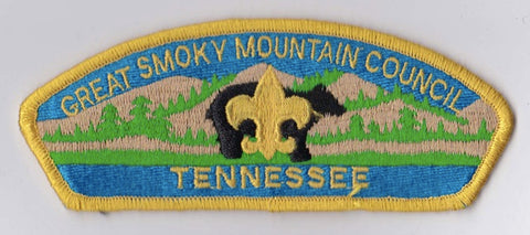 Great Smoky Mountain Council TN Yellow Border Plastic Backing FDL CSP ## CSP616