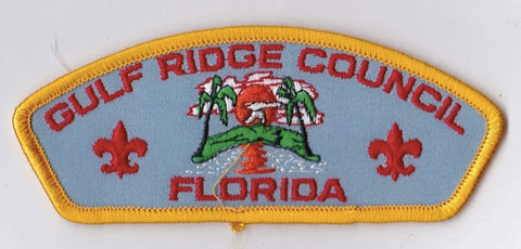 Gulf Ridge Council FL Yellow Border Plastic Backing FDL CSP ## CSP638