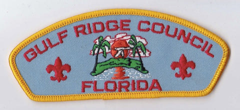 Gulf Ridge Council FL Yellow Border Scout Stuff Backing FDL CSP ## CSP639