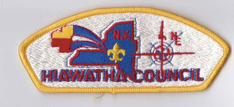 Hiawatha Council NY Yellow Border Plastic Backing FDL CSP ## CSP667