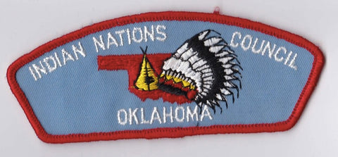 Indian Nations Council OK Red Border Cloth Backing Pre-FDL CSP ## CSP685