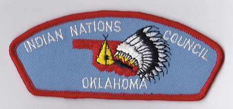 Indian Nations Council OK Red Border Plastic Backing Pre-FDL CSP ## CSP686