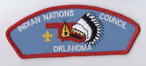 Indian Nations Council OK Red Border Plastic Backing FDL CSP ## CSP687