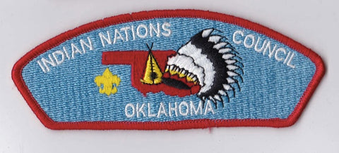 Indian Nations Council OK Red Border Plastic Backing FDL CSP ## CSP689