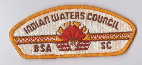 Indian Waters Council SC Yellow Border Plastic Backing BSA CSP ## CSP694