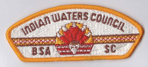Indian Waters Council SC Yellow Border Plastic Backing BSA CSP ## CSP695
