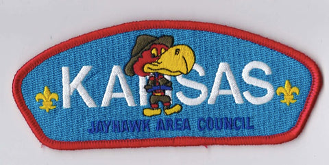 Jayhawk Area Council KS Red Border Scout Stuff Backing FDL CSP ## CSP713