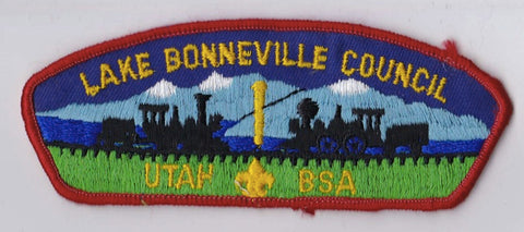 Lake Bonneville Council UT Red Border Cloth Backing FDL CSP ## CSP730