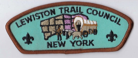 Lewiston Trail Council NY Brown Border Plastic Backing FDL CSP ## CSP757