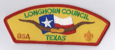 Longhorn Council TX Red Border Plastic Backing FDL CSP ## CSP768