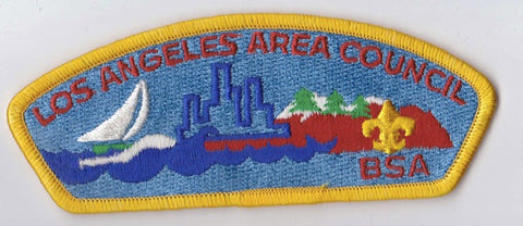 Los Angeles Area Council CA Yellow Border Plastic Backing FDL CSP ## CSP781