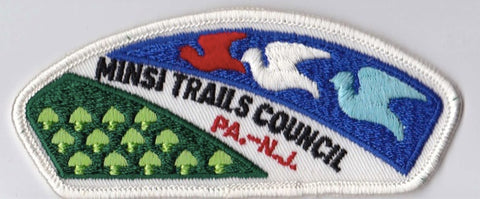Minsi Trails Council PA & NJ White Border Plastic Backing Pre-FDL CSP ## CSP819