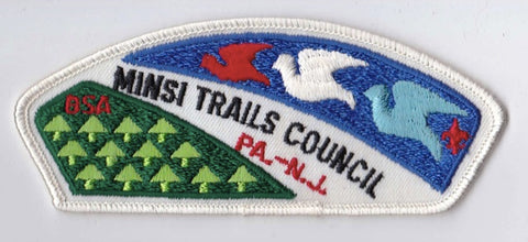 Minsi Trails Council PA & NJ White Border Plastic Backing BSA CSP ## CSP820
