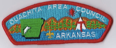 Ouachita Area Council AR Red Border Plastic Backing FDL CSP ## CSP1009