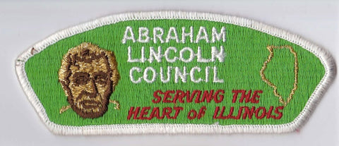 Abraham Lincoln Council Illinois White Border Cloth Backing Pre-FDL CSP ## CSP100