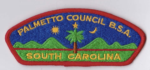 Palmetto Council SC Red Border Dirty Cloth Backing BSA CSP ## CSP1027