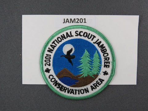 2001 National Scout Jamboree Conservation Area Green Border [JAM201]^^