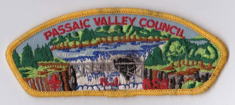 Passaic Valley Council  Rough Condition Yellow Border Plastic Backing FDL CSP ## CSP1033