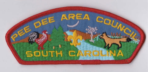 Pee Dee Area Council SC Red Border Scout Stuff Backing FDL CSP ## CSP1038