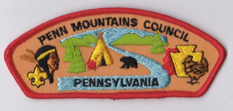 Penn Mountains Council PA Red Border Plastic Backing FDL CSP ## CSP1041