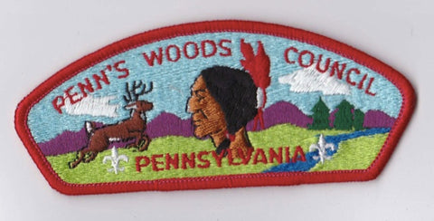 Penn's Woods Council PA Red Border Plastic Backing FDL CSP ## CSP1042