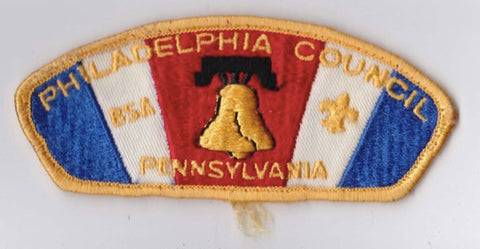 Philadelphia Council PA Sewn Yellow Border Plastic Backing Pre-FDL CSP ## CSP1045