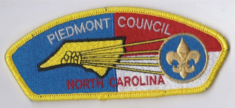 Piedmont Council NC Yellow Border Scout Stuff Backing FDL CSP ## CSP1055